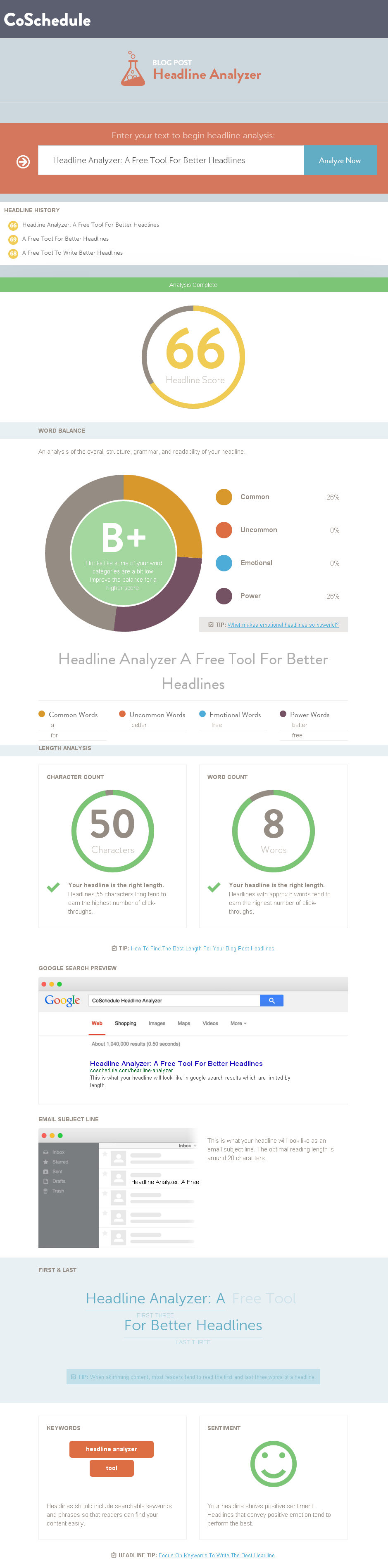 Headline Analyzer: A Free Tool For Better Headlines