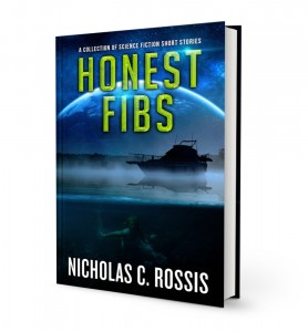 Honest Fibs book cover | From the blog of Nicholas C. Rossis, author of science fiction, the Pearseus epic fantasy series and children's books
