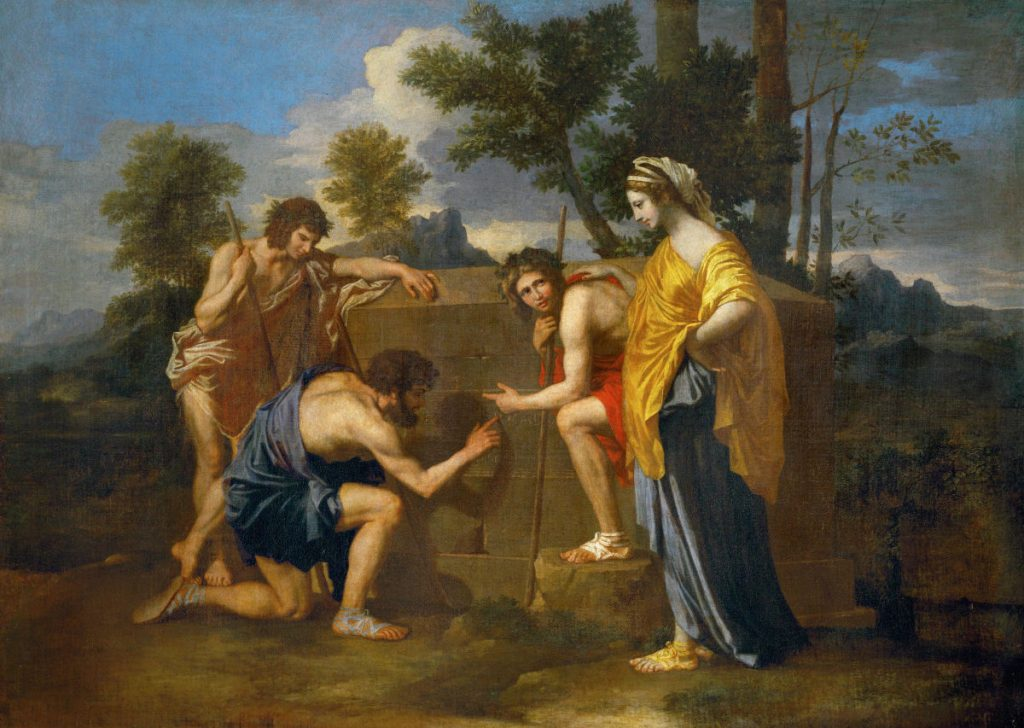 Nicolas Poussin: Et in Arcadia ego | From the blog of Nicholas C. Rossis, author of science fiction, the Pearseus epic fantasy series and children's books