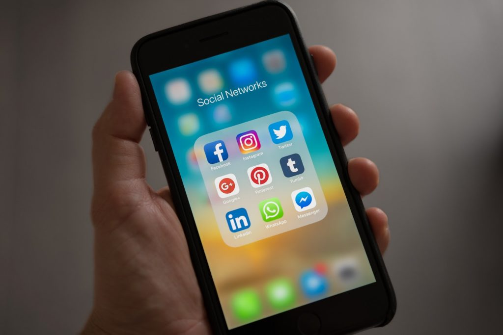 Social media on phone | From the blog of Nicholas C. Rossis, author of science fiction, the Pearseus epic fantasy series and children's books