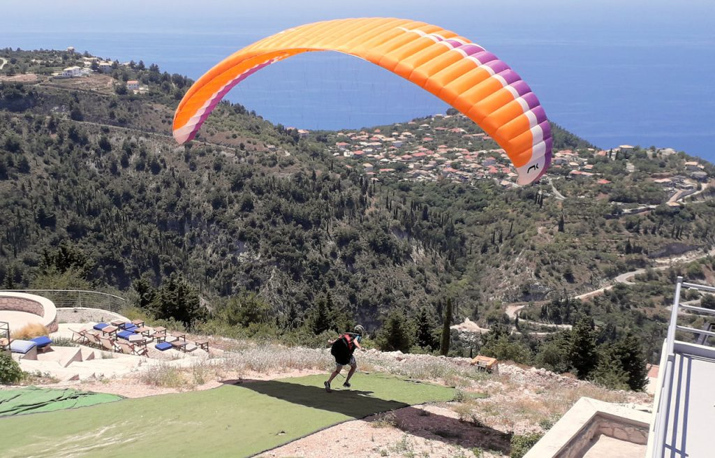 Lefkada paragliding | From the blog of Nicholas C. Rossis, author of science fiction, the Pearseus epic fantasy series and children's books