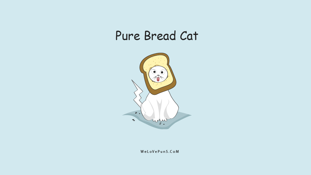 Pure Bread Cat pun | From the blog of Nicholas C. Rossis, author of science fiction, the Pearseus epic fantasy series and children's books