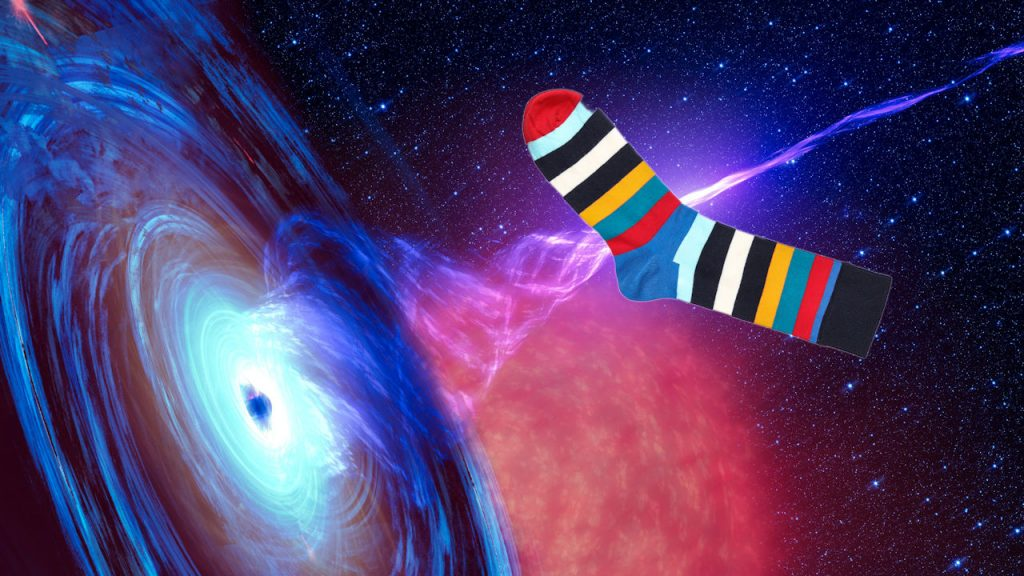 Sock entering wormhole | From the blog of Nicholas C. Rossis, author of science fiction, the Pearseus epic fantasy series and children's book