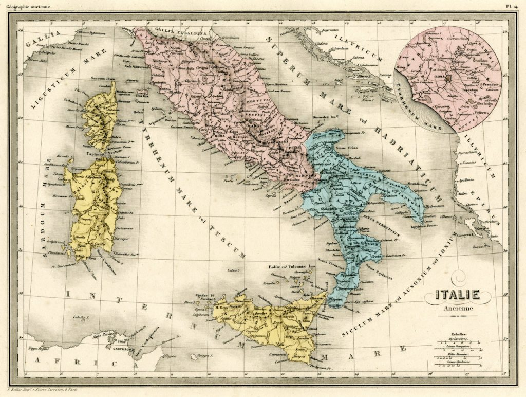 19th century map of Italy | From the blog of Nicholas C. Rossis, author of science fiction, the Pearseus epic fantasy series and children's book