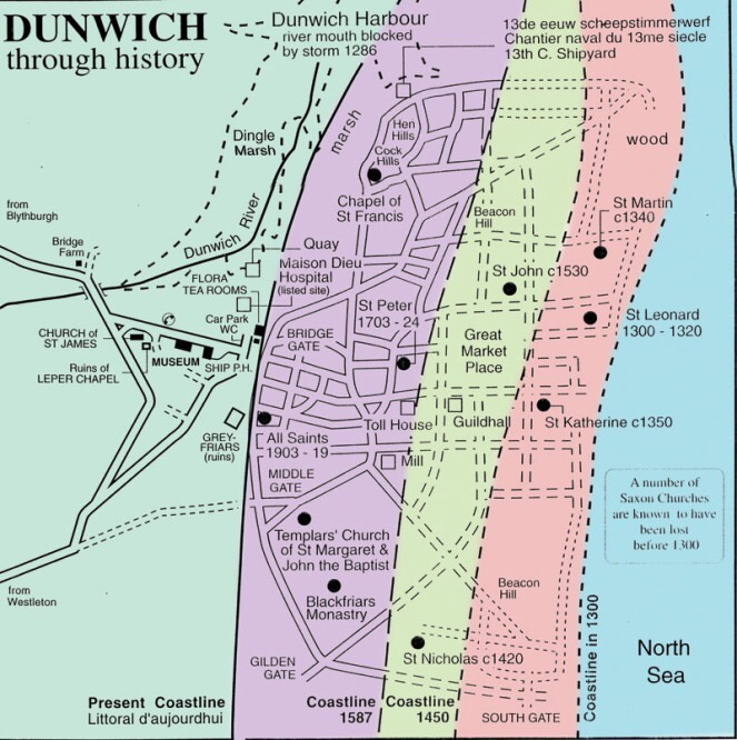 Dunwich - erosion | From the blog of Nicholas C. Rossis, author of science fiction, the Pearseus epic fantasy series and children's book
