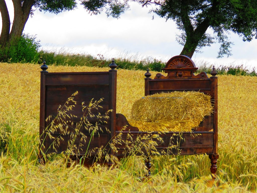 Straw bed | From the blog of Nicholas C. Rossis, author of science fiction, the Pearseus epic fantasy series and children's book