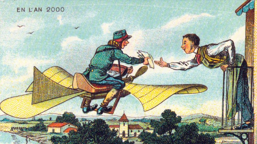 1882 postcard flight above Paris   From the blog of Nicholas C. Rossis, author of science fiction, the Pearseus epic fantasy series and children's books