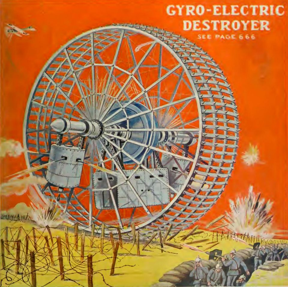 1914 gyro-electric destroyer   From the blog of Nicholas C. Rossis, author of science fiction, the Pearseus epic fantasy series and children's books