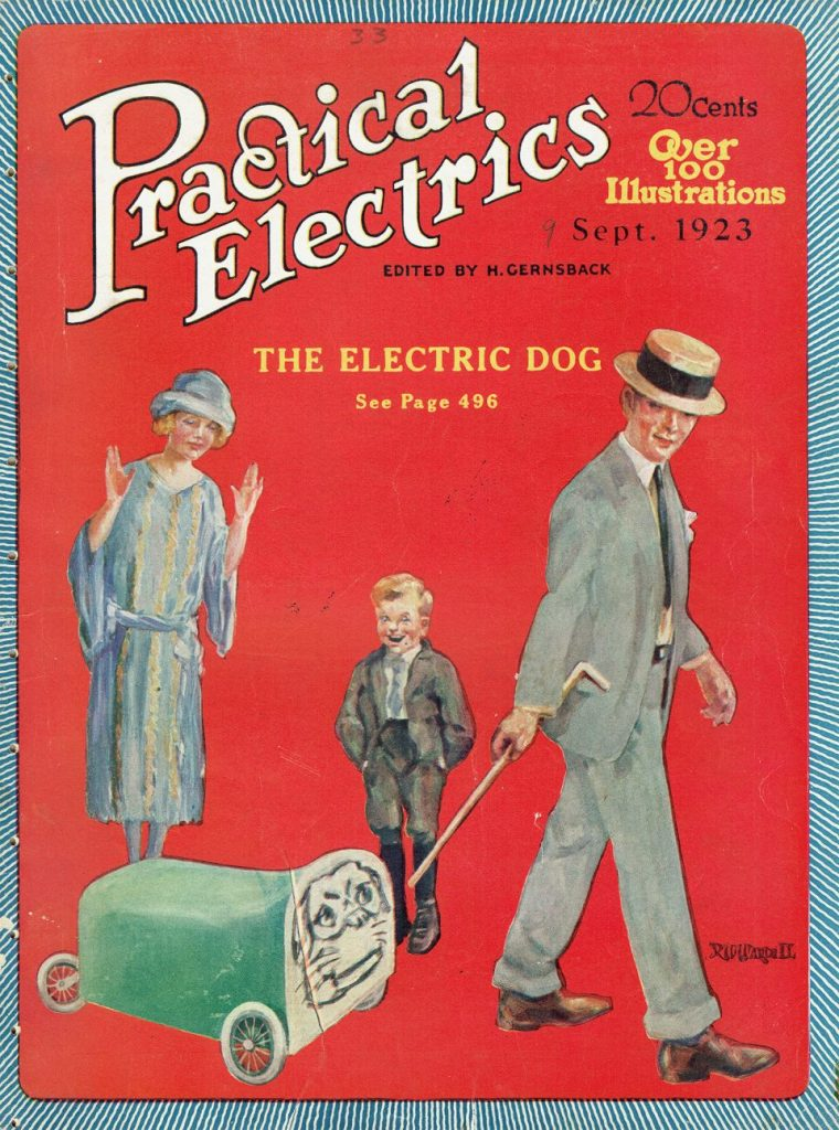 1923 electric dog   From the blog of Nicholas C. Rossis, author of science fiction, the Pearseus epic fantasy series and children's books