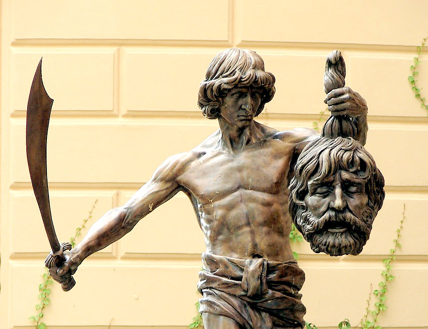 David Goliath statue | From the blog of Nicholas C. Rossis, author of science fiction, the Pearseus epic fantasy series and children's books